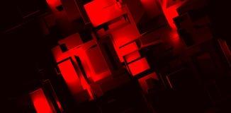 Il colore rosso ostruisce la città Immagini Stock
