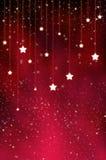 Il colore rosso Stars la priorità bassa Fotografie Stock Libere da Diritti