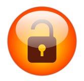 Il colore rosso vetroso sblocca l'icona Immagini Stock Libere da Diritti