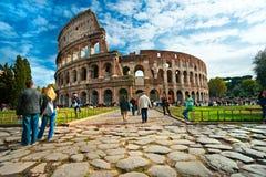 Il Colosseo maestoso, Roma, Italia. Fotografia Stock