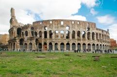 Il Colosseum o il Colosseo, anche conosciuto come Flavian Amphitheatr Fotografie Stock