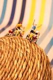 Il colpo concettuale del vincitore del ciclista Fotografia Stock
