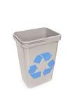 Il colpo dello studio di un vuoto ricicla il recipiente Fotografie Stock