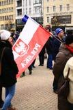 Il comitato di protesta la difesa della democrazia, Poznan, Polonia Fotografia Stock Libera da Diritti