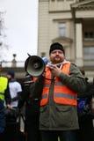 Il comitato di protesta la difesa della democrazia, Poznan, Polonia Fotografia Stock