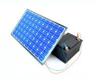 Il comitato solare carica la batteria Fotografia Stock