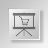 il commercio elettronico 3D fa scorrere il concetto di affari dell'icona Illustrazione Vettoriale