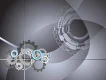 Il commercio industriale di tecnologia innesta la priorità bassa Fotografia Stock Libera da Diritti
