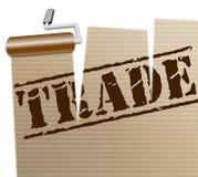 Il commercio internazionale rappresenta attraverso The Globe e l'affare Immagine Stock