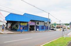Il commercio locale ha chiamato Camelodromo de Campo Grande Fotografia Stock Libera da Diritti