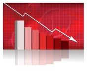 Il commercio si preoccupa con il grafico illustrazione di stock