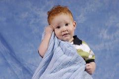 Il compagno ama la sua coperta Fotografia Stock