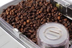 Il compartimento ha riempito la macchina del caffè Immagine Stock Libera da Diritti