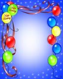 Il compleanno Balloons l'invito Fotografia Stock Libera da Diritti