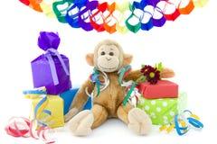 Il compleanno della scimmia Fotografia Stock