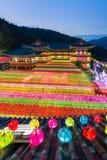 Il compleanno di Buddha a Samgwangsa Fotografie Stock