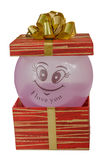 Il compleanno, scatola, celebra, la celebrazione, natale, regalo di natale, regalo, giftbox, isolato Fotografia Stock