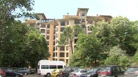 Il complesso in sabbie dorate, Bulgaria della località di soggiorno stock footage