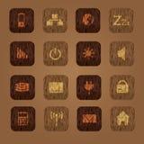 Il computer di legno di struttura abbottona eps10 Royalty Illustrazione gratis
