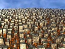 Il computer ha reso il paesaggio virtuale Immagine Stock