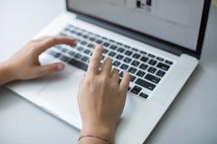 Il computer portatile Immagine Stock