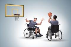 Il concepth di accessibilità con la sedia a rotelle per gli handicappati immagini stock libere da diritti