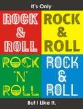 Il conception de typographie de rock du ` s seulement, vecteur Illustration Stock