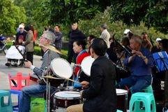 Il concerto all'aperto Fotografia Stock