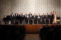 Il concerto della cappella ebrea dell'uomo di Mosca Immagine Stock