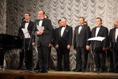 Il concerto della cappella ebrea dell'uomo di Mosca Fotografia Stock Libera da Diritti