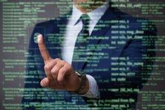 Il concetto biometrico dell'identificazione con le impronte digitali Immagine Stock Libera da Diritti