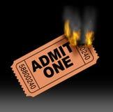Biglietto caldo Fotografia Stock