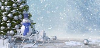 Il concetto 3d di feste, dei presente, del nuovo anno, di Natale e della celebrazione rende fotografia stock libera da diritti
