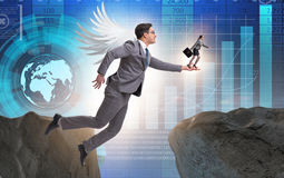 Il concetto dei capitali di rischio con l'investitore di angelo immagini stock