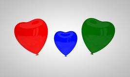 Il concetto dei palloni colorati multi Immagine Stock