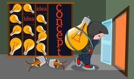 Il concetto del furto della proprietà intellettuale Immagine Stock Libera da Diritti