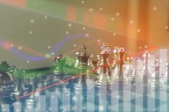 Il concetto del gioco di scacchiera delle idee e concorrenza di affari e la strategia progettano il significato di successo, stat Fotografia Stock Libera da Diritti