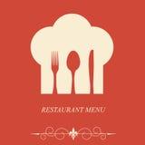 Il concetto del menu del ristorante Fotografie Stock
