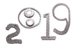 Il concetto del nuovo anno, due mila diciannove immagine stock