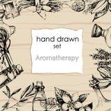 Il concetto dell'aromaterapia e del massaggio Fotografie Stock Libere da Diritti
