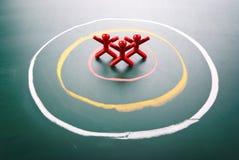 Il concetto dell'obiettivo, la gente be è selezionato. fotografie stock