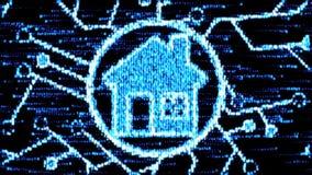 Il concetto della casa astuta Camera del codice macchina illustrazione di stock