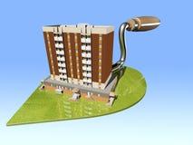 Il concetto della costruzione di alloggi ecologica Immagini Stock