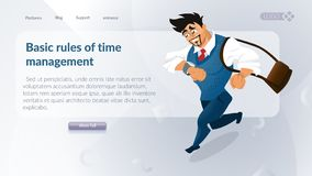 Il concetto della gestione di tempo della società illustrazione di stock