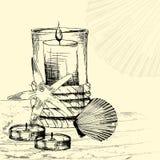 Il concetto della procedura della stazione termale Fotografia Stock