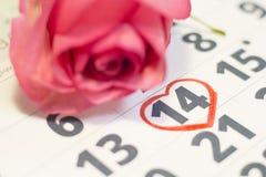 Il concetto delle feste con un calendario Fotografie Stock Libere da Diritti