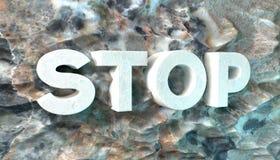 Il concetto delle parole ferma la roccia. Fotografie Stock Libere da Diritti