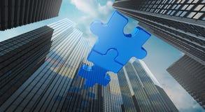 Il concetto di affari di acquisizione e di fusione, unisce la rappresentazione della società 3d royalty illustrazione gratis