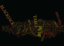 Il concetto di Bum Text Background Word Cloud del black jack Fotografia Stock Libera da Diritti