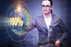 Il concetto di cento per cento 100 Immagine Stock